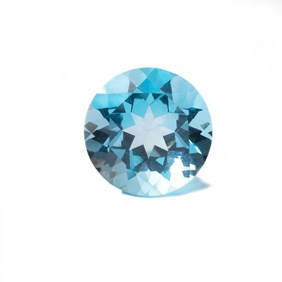 Sky Blue Topaz 20mm Round Faceted Stone
