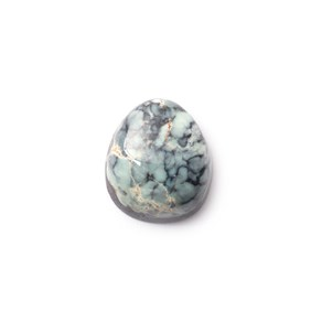 New Lander Turquoise Cabochon, Approx 14x12mm