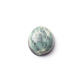New Lander Turquoise Cabochon, Approx 12x10mm