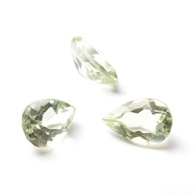Green Brazilian Amethyst 12x8mmTeardrop Faceted Stone