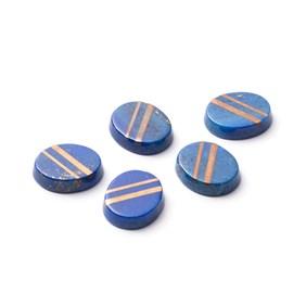 9ct Gold Lapis Lazuli Flat Plate Cabochons