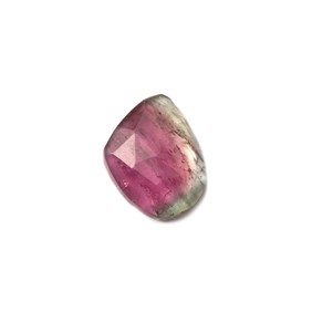 Watermelon Tourmaline Faceted Cabochon, Approx 11.5x8.5mm