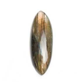 Labradorite Marquise Shape Cabochon, Approx 41x14mm