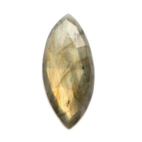 Labradorite Rose Cut Marquise Cabochon, Approx 38x17mm