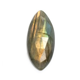 Labradorite Rose Cut Marquise Cabochon, Approx 39x18mm