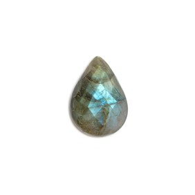 Labradorite Rose Cut Teardrop Cabochon, Approx 20x15mm