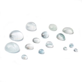 Aquamarine Cabochons, Approx 7x5mm Oval