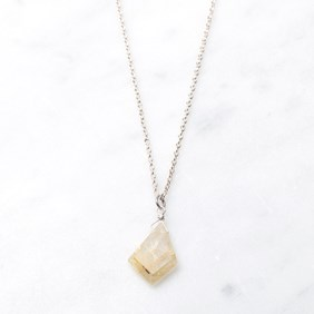 Golden Rutile Slice Necklace