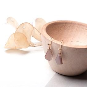 Chocolate Moonstone Slice Earrings