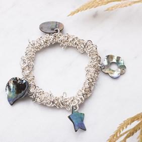 Paua Shell Charm Bracelet