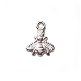 Sterling Silver Bumble Bee Charm, 6mm