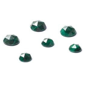 Malachite Rose Cut Cabochons