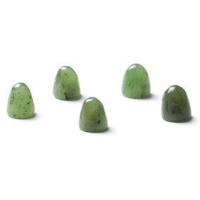 Nephrite Jade Bullet Shaped Cabochons, Approx 5mm