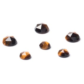 Golden Tiger's Eye Rose Cut Cabochons