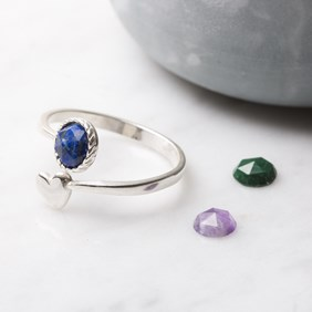 Lapis & Heart Ring