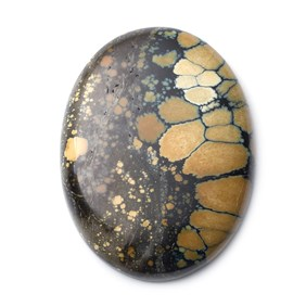 New Lander Turquoise Cabochon, Approx 40x30mm