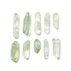 Green Quartz Points, Approximately 10x6mm to 50x25mm, Packs Of 10 Beads