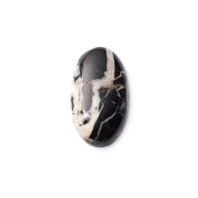 White Buffalo Cabochon, Approx 24x14mm