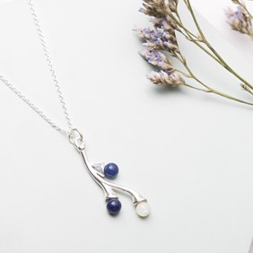 Sodalite & Mother Of Pearl Necklace
