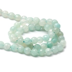 Amazonite Faceted Round Beads, Approx 8mm