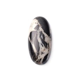 White Buffalo Cabochon, Approx 27x13mm