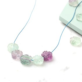 Kids Fluorite Flower Bead Necklace