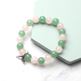 Kids Rose Quartz and Aventurine Bracelet