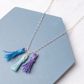 Multi Coloured Tassel Necklace