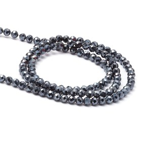Midnight Blue Spinel Faceted Round Beads, 3mm Round