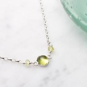 Peridot & Petal Necklace