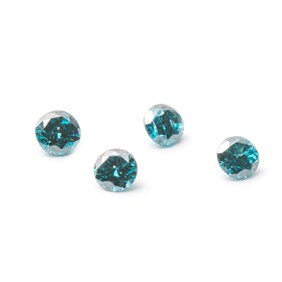 Ocean Blue Faceted Diamond Stones, Approx 2mm Round