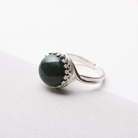 Green Moss Agate Ring