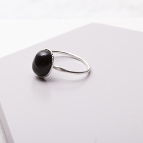 Onyx Milled Edge Ring