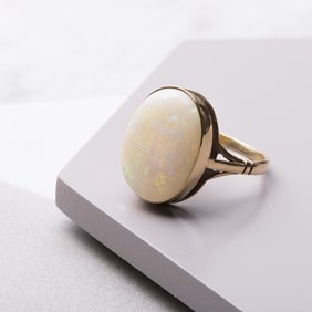 9ct Gold Solid Opal Ring