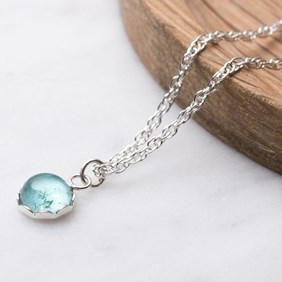 Apatite & Petal Necklace