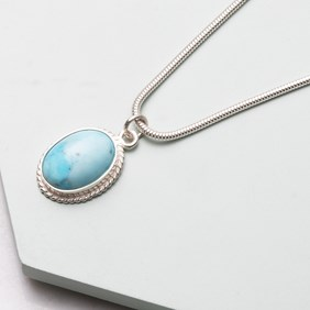 'Turquoise' Howlite Necklace