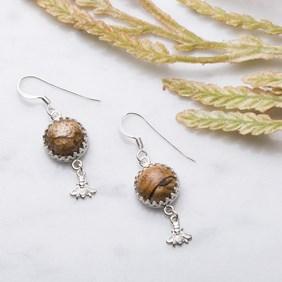 Bumble Bee & Honeycomb Earrings