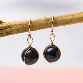 Rose Gold & Boulder Opal Bead Earrings