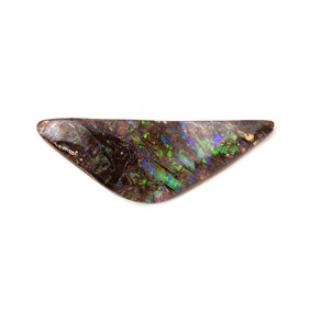 Freeform Australian Boulder Opal, Approx 25x8.5mm