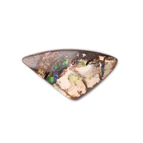 Freeform Australian Opalised Wood Opal, Approx 22.5x12mm
