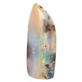 Freeform Australian Boulder Opal, Approx 38x15mm