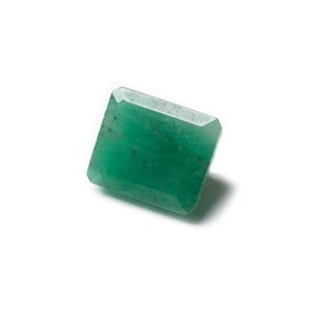 Emerald Faceted Stone, Approx 9.5x7.5mm Rectangle