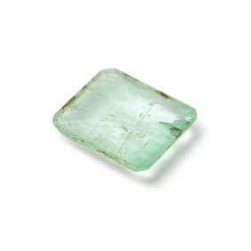 Emerald Faceted Stone, Approx 10.5x9mm Rectangle