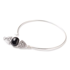 Onyx Celtic Knot Bangle