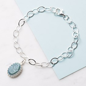 'Frozen' Turquoise Drusy Bracelet