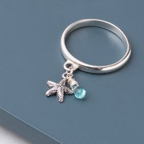 Starfish & Apatite Ring
