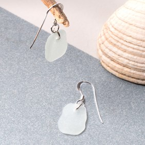 Drilled Sea Glass Earrings