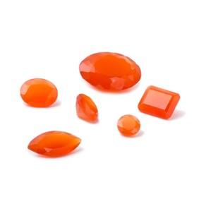 Carnelian Faceted Stones