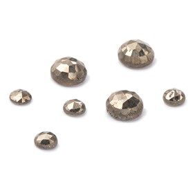 Pyrite Rose Cut Cabochons