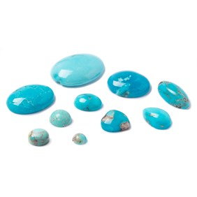 Turquoise Matrix Untreated Cabochons